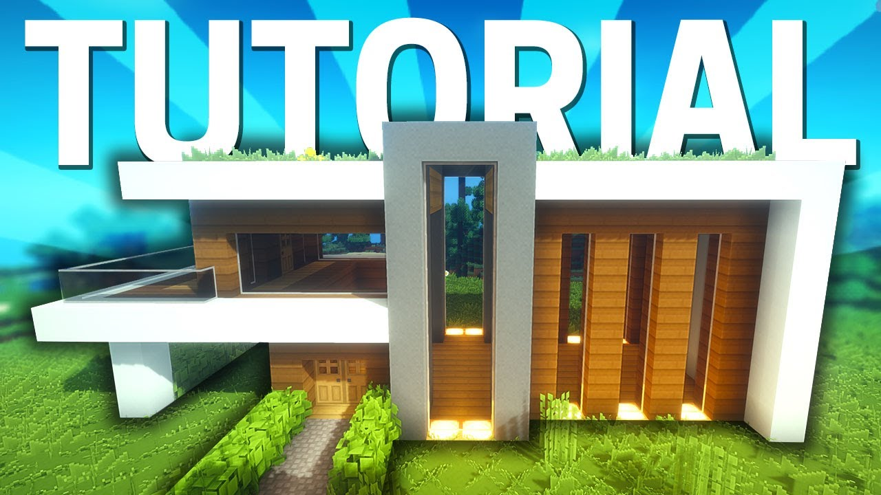 Minecraft casa moderna de mundo mods 3 tutorial youtube for Casas modernas minecraft faciles