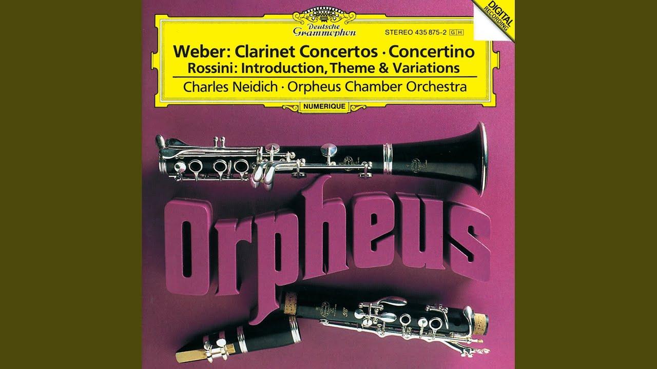 Fonkelnieuw Weber: Clarinet Concerto No.1 in F minor, Op.73 - 3. Rondo HC-36