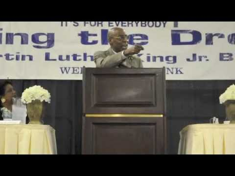 Rev. Calvin Morris speaks on the greatness of Rev. Dr. Martin Luther King, Jr.
