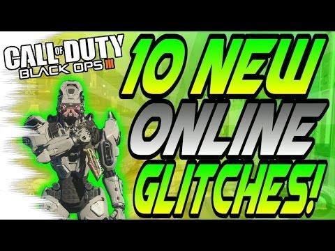 (1/18/16) 10 NEW BO3 Multiplayer Glitches! - High Ledges, Trickshot Glitches (BO3 Online Glitch)