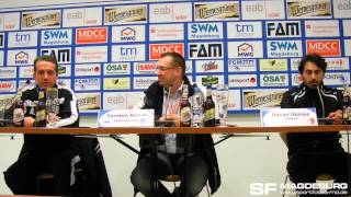 Pressekonferenz - 1. FC Magdeburg gegen Berliner AK 07 2:1 (1:0) - www.sportfotos-md.de