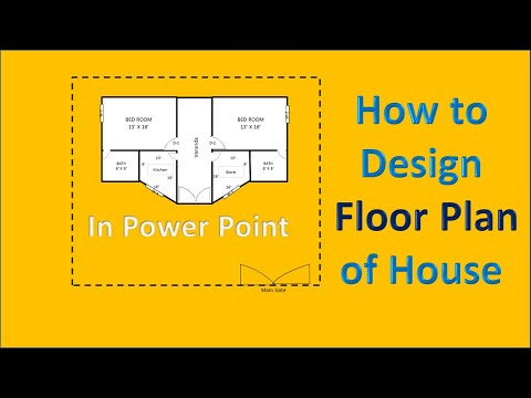 How To Sketch A Floor Plan Of House In Ms Powerpoint House Plan Creating Tutorial Youtube