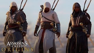 Assassin's Creed Origins - ALL LEGACY OUTFITS (Showcase + Gameplay)