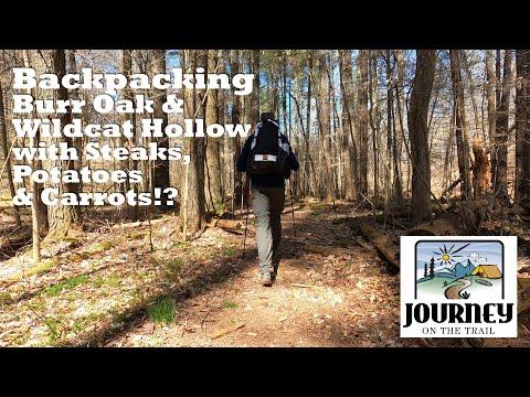 Backpacking Burr Oak & Wildcat Hollow April 2020