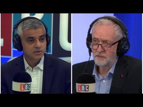 Sadiq Khan hosts the Jeremy Corbyn phone-in on LBC