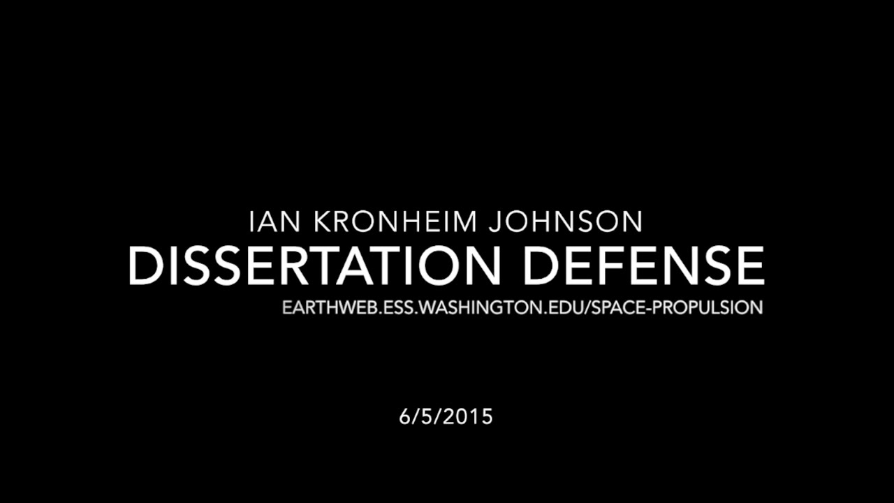 Dissertation defence video