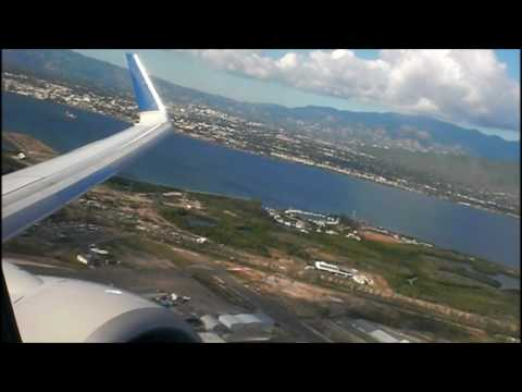 Beautiful taxi and takeoff out of Kingston Jamaica!!