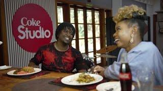 Nyashinski cooks for Yemi Alade.