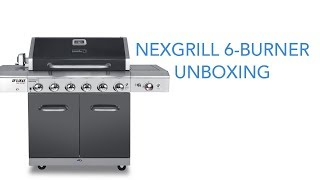 Nexgrill Deluxe 6 Burner Propane Gas Grill with Sear Station Unboxing