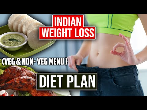 Indian diet plan for weight loss (veg and non veg menu) | Indian weight loss diet | Weight loss meal