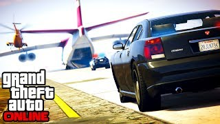 GTA 5: Online - Epic Police Chase & Cargo Plane Stunts (Funny Moments & Fails)