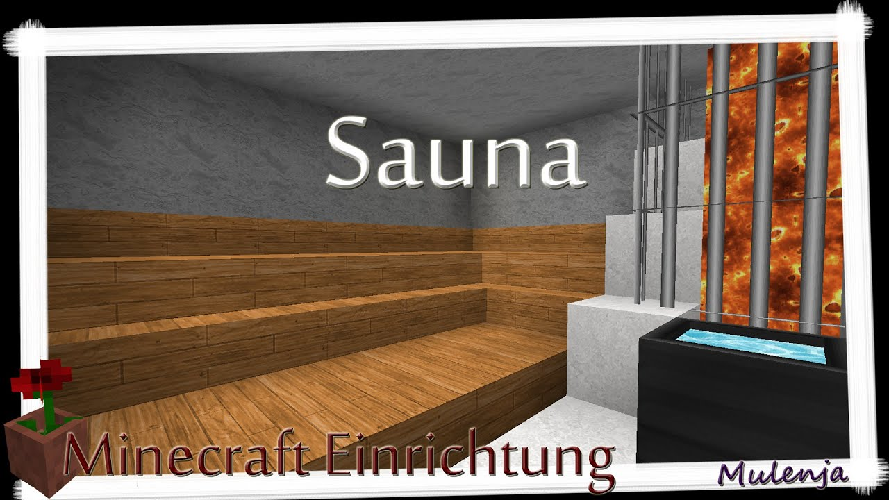 minecraft sauna einrichten in minecraft youtube. Black Bedroom Furniture Sets. Home Design Ideas