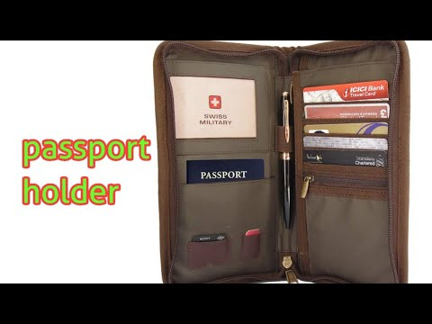 Swiss Military Green Unisex Passport Holder (TW-2) unboxing  aditube