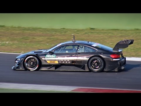 2017 DTM Test - LOUD Sounds, Downshifts & Fly bys