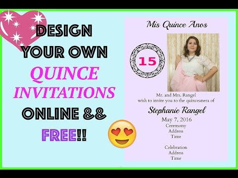 Free Invitation Design Online Quince Wedding By Myquinceanera Diy