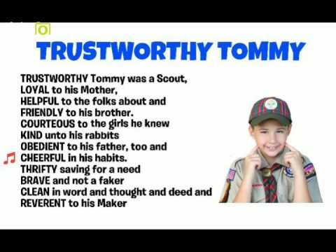 Trustworthy Tommy - Scout Law