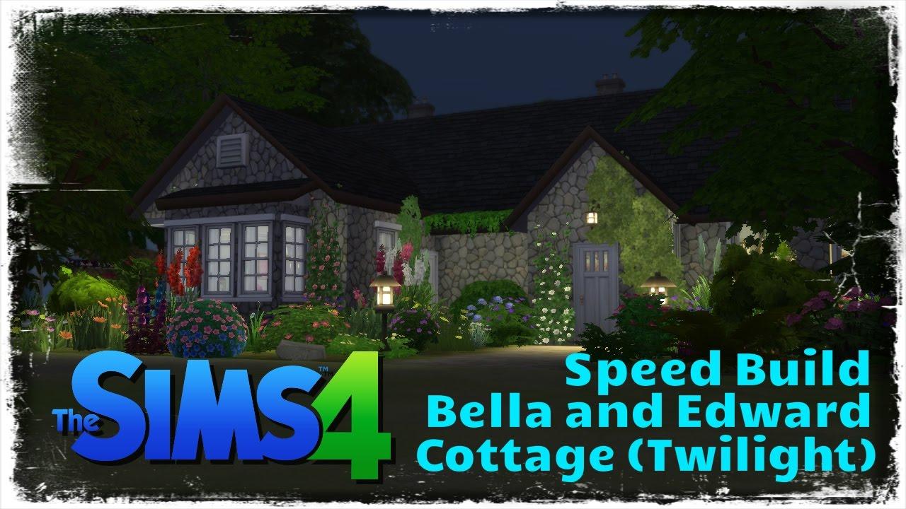 Sims 4-- Speed Build--Bella and Edward Cottage (Twilight) - YouTube