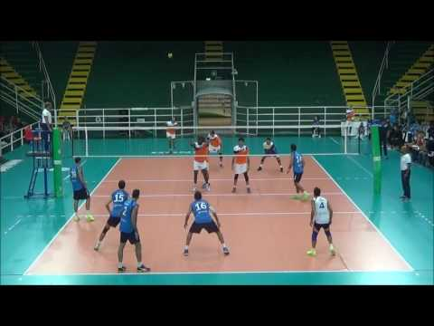 Riccardo Valla # 15 Italian spiker blue shirt match vs A1 (cut video)