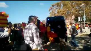 Aporreada una furgoneta de los Mossos tras la manifestación en Barcelona