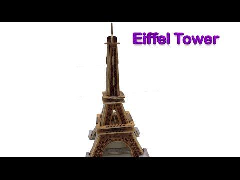 DIY Miniature Eiffel Tower ~ Robotime 3D Woodcraft Construction Kit