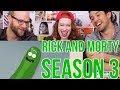 RICK and MORTY - Season 3 trailer - REACTION!!