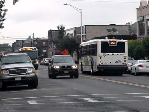 New Jersey Transit Route 751 Buses Along Broad Ave Youtube