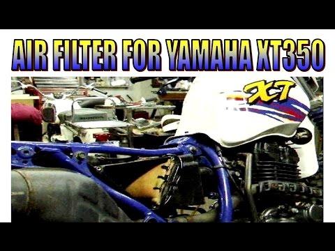 Make a Yamaha XT350 air filter.
