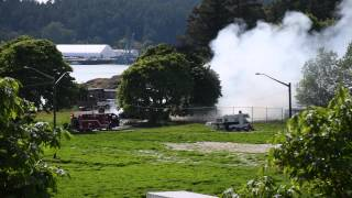 Fire Destroys Cars & Mobile Home, View Royal