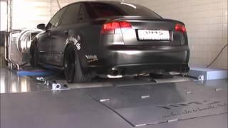 Audi RS4 mit HMS-Tuning Klappenabgasanlage