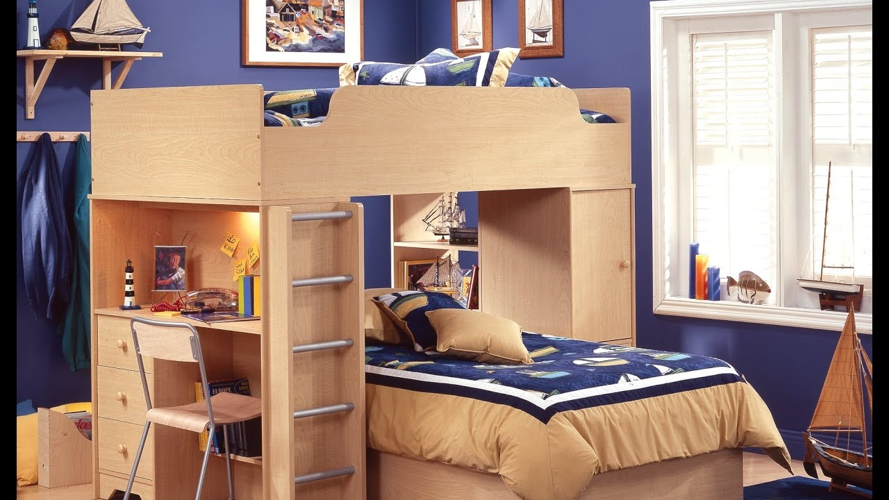 Bunk Bed With Desk And Chair Youtube