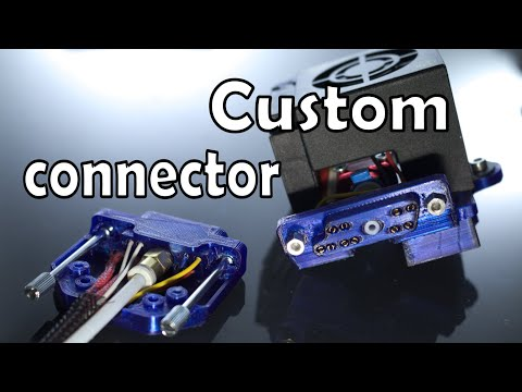Design And Print A Custom Connector For The Creality Printer With Swappable Hot End