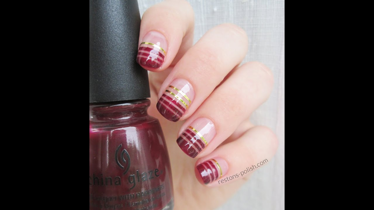 Tuto nail art facile le striping tape youtube - Nail art noel facile ...
