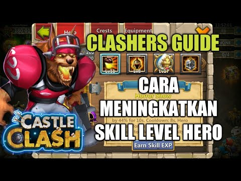 Castle Clash | Cara Leveling Up Skill Hero