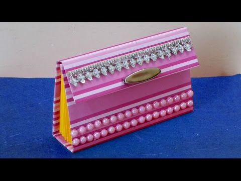 DIY Project Cute Paper Purse Making Tutorial For Girls