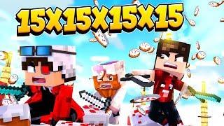 БИТВА 15х15х15х15! КЕЙК ВАРС НА 60 ЧЕЛОВЕК! БИТВА ЗА ТОРТИК! Minecraft Cake Wars