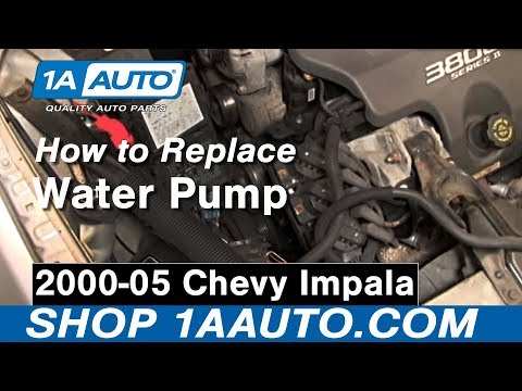 how to install replace water pump 00 05 chevy impala 3800 3 8l how to install replace water pump 00 05 chevy impala 3800 3 8l 1aauto com
