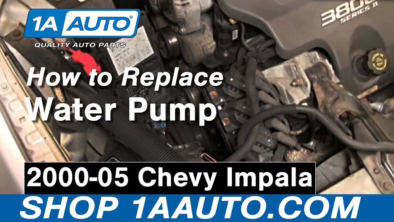 hight resolution of how to replace engine water pump 00 05 chevy impala