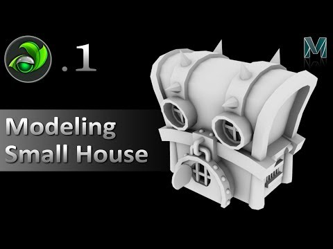 Game Artist | Modeling Small House P1 with Autodesk Maya | Game Design