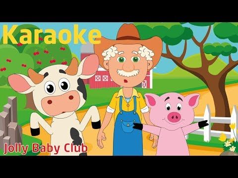 Old MacDonald Had A Farm - Karaoke | Nursery Rhymes | from JollyBabyClub