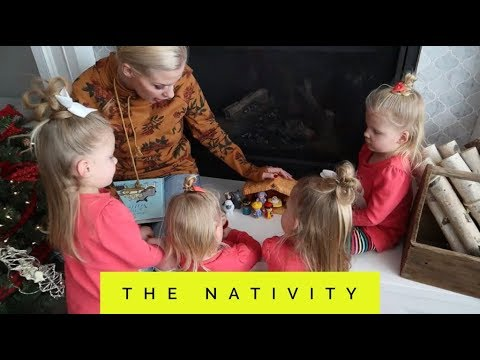MOM TEACHES THE GIRLS ABOUT THE NATIVITY