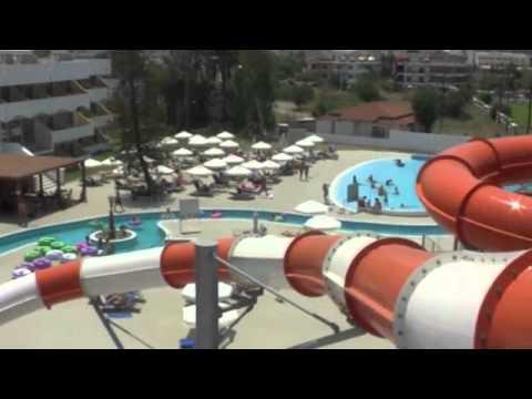 SUN PALACE FALIRAKI WATERPARK 2012 VIEW FROM ABOVE - YouTube