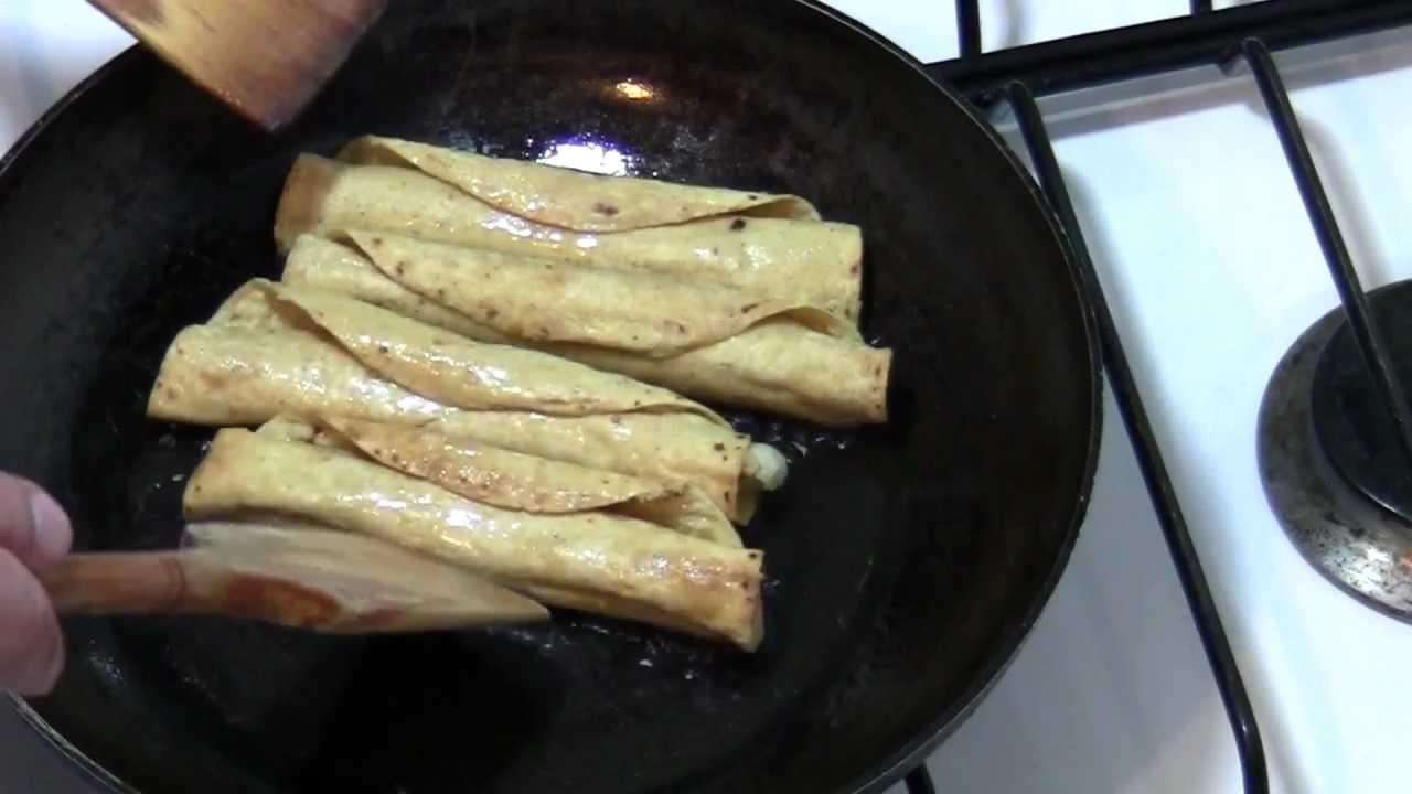 Tacos Dorados de Papa  flautas  Receta de Cocina