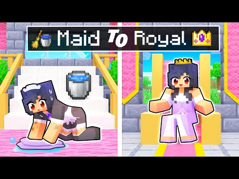 From MAID To ROYAL Story In Minecraft!