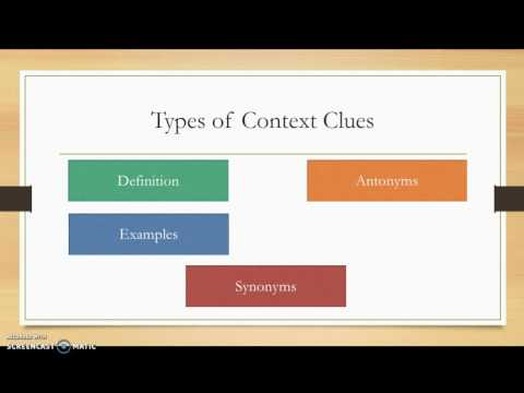 Vocabulary Lesson 1 Context Clues
