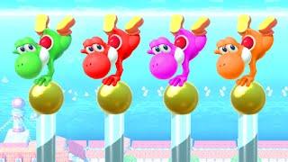 Super Mario Party Minigames - Yoshi vs Peach vs Bowser Jr. vs Pom Pom