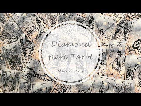 開箱  鑽閃偉特塔羅 • Diamond flare Tarot // Nanna Tarot