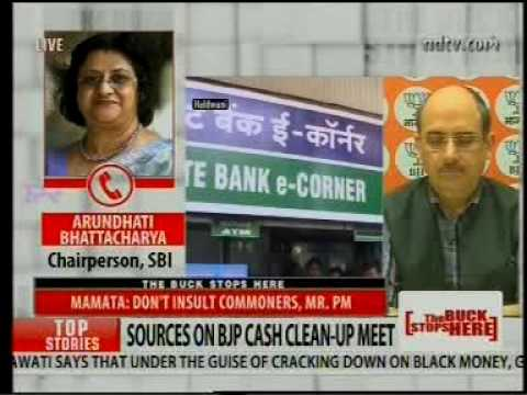 SBI Chairman's Telephonic Interview with NDTV 24x7 on Cashless Transactions & ATM Withdrawals