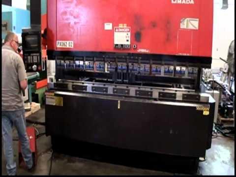 amada 5 axis fbd 1030f hydraulic press brake 1992 youtube rh youtube com