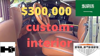 hummer h1 alpha 2006 custom interior most extreme ever seen.