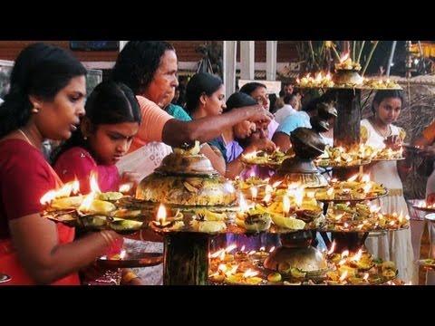 Naranga Vilakku at Attukal Bhagavathy Temple, Thiruvananthapuram